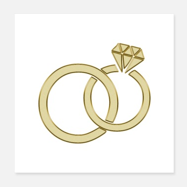 Wedding wedding rings - Poster