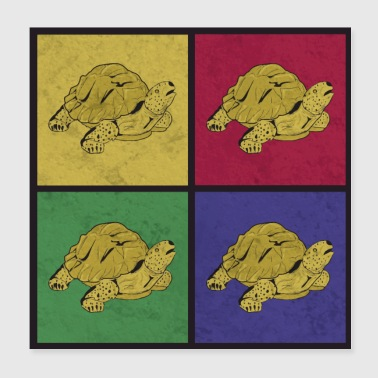 Pop Art Turtles cadeau idee - Poster 20x20 cm