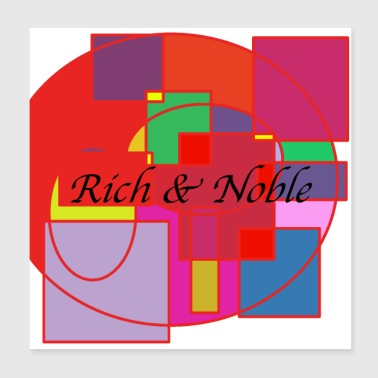 Design rich and noble - Poster 20x20 cm