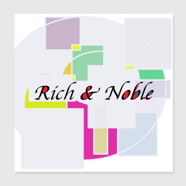 Design riche et noble - Poster 20 x 20 cm