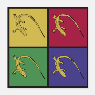 Lizard Lizards pop art reptile prehistoric lizard - Poster 20x20 cm