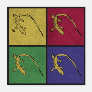 Reptiles Pop Art Lizards Gift Reptile - Poster