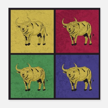Pop Art Pop Art Buffalo - Poster 20x20 cm