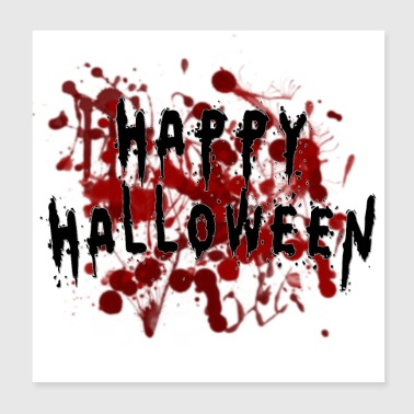 Glad Bloody Halloween - Poster 20x20 cm