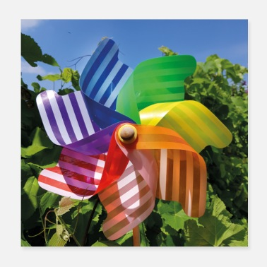 Colorful pinwheel striped - Poster