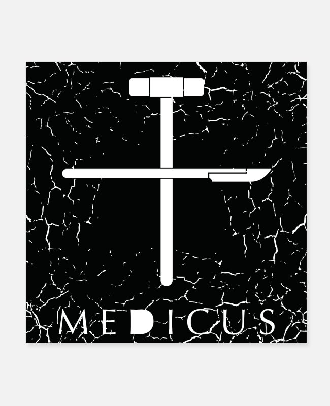Medicine Posters - Medicus + Grunge - Posters white