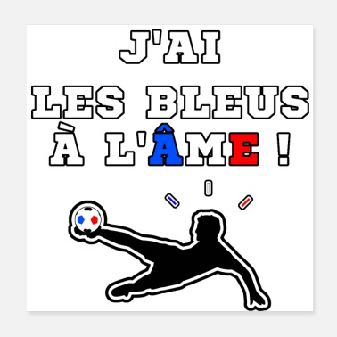 Football Game I HAVE BLUES TO THE SOUL - WORDS GAMES - Poster 20x20 cm
