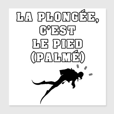 DIVING ER FOTEN (PALMÉ) - GAMES OF WORDS - Poster 20x20 cm