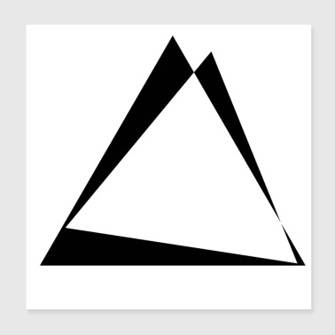 Triangle Twisted triangles - triangle design - Poster 20x20 cm