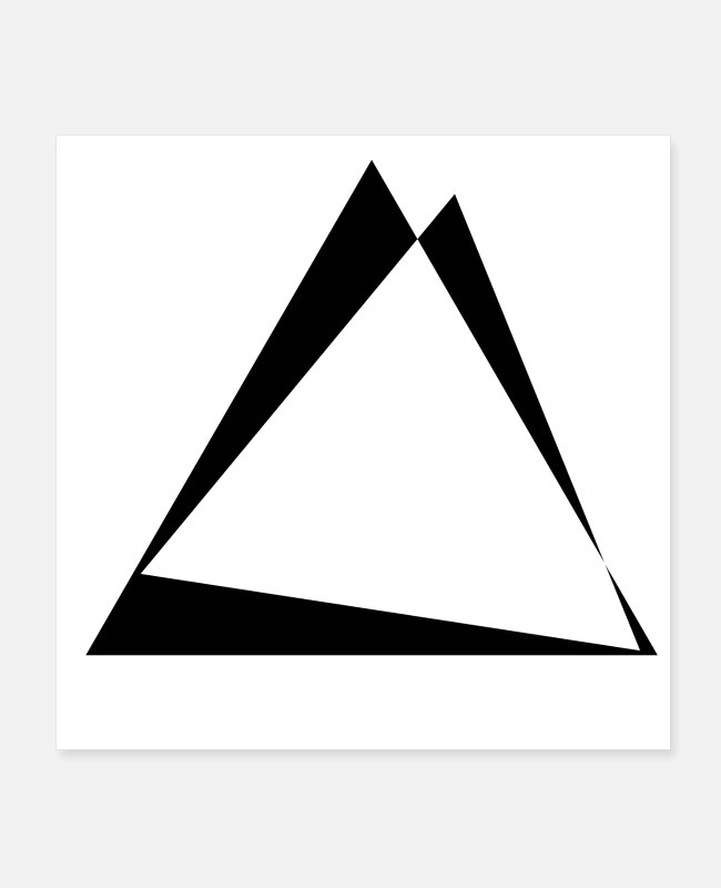 Minimum Posters - Twisted triangles - triangle design - Posters white