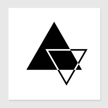 Two triangles in minimalist design - minimal - Poster 20x20 cm