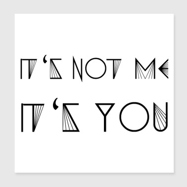 IT'S NOT ME - IT'S YOU (b) - Poster 20x20 cm