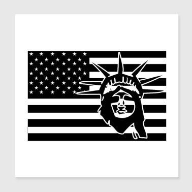 AMERICAN STATUE OF LIBERTY (b) - Poster 20x20 cm