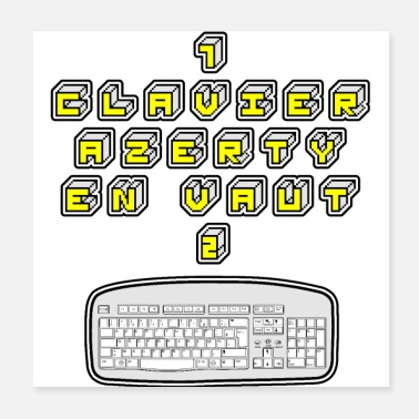 Keyboard 1 KEYBOARD AZERTY IN VAUT 2 - GAMES OF WORDS - Poster