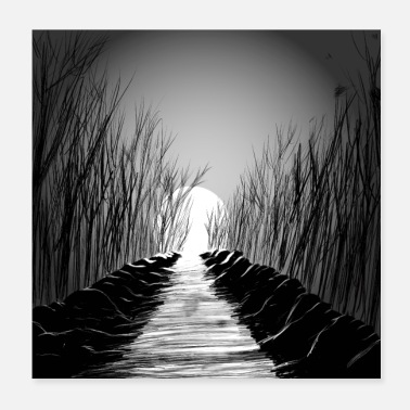 Black And White Collection foresta - Poster