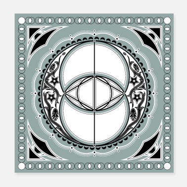 Celtic Vesica Piscis Chalice Well Celtic-symbool - Poster 20x20 cm