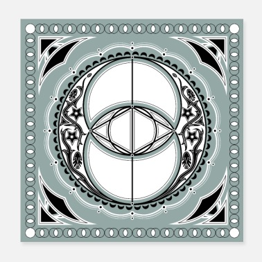 Buddhism Vesica Piscis Chalice Well Celtic symbol - Poster