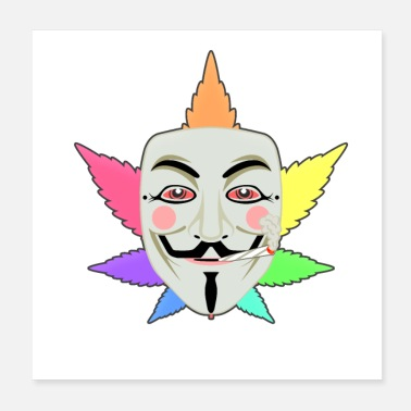 Anonymous Regenbogen High Anonymous - Poster