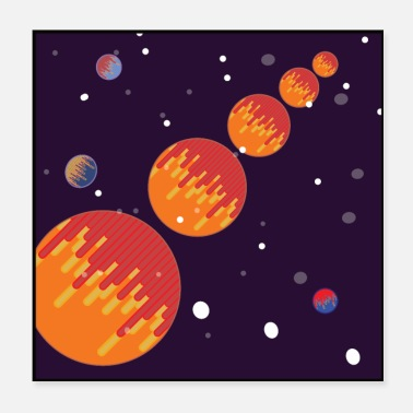 Planet Galaxy Poster - space, planets - Poster 20x20 cm