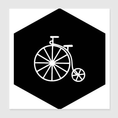 HIPSTER PENNY FARTHING (b) - Poster 20 x 20 cm