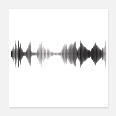Audio soundtrack - Poster 20x20 cm
