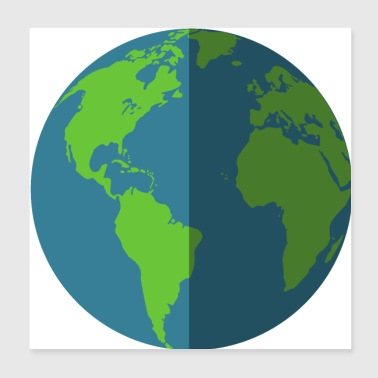 Earth Day The earth by day and night | gift idea - Poster 20x20 cm