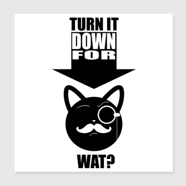 Down TURN IT DOWN FOR WAT (poster) - Poster 20x20 cm
