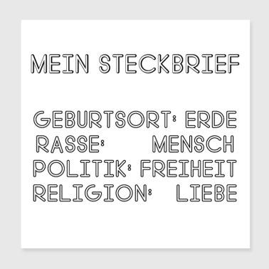 Religion My Profile: Earth, Human, Freedom & Love - Poster 20x20 cm