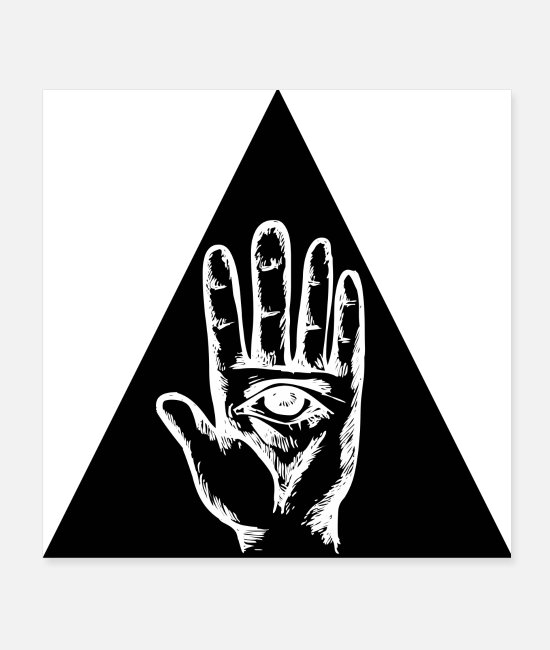 Secret Society Posters - ILLUMINATI ESOTERICA EYE HAND (poster) - Posters white