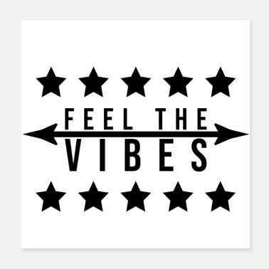 Arrow FEEL THE VIBES STARS ARROW (poster) - Poster 20x20 cm