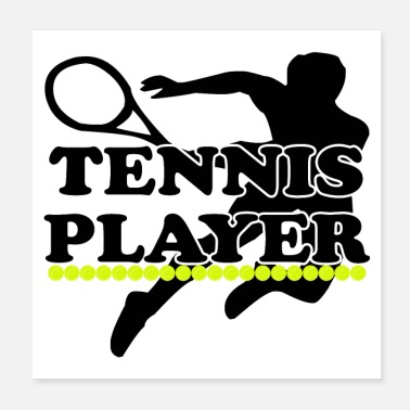 Sprint TENNIS PLAYER (poster) - Poster 20x20 cm