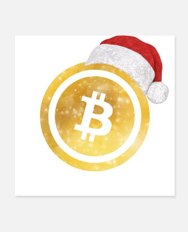 Gold Posters - bitcoin christmas gold - Posters white