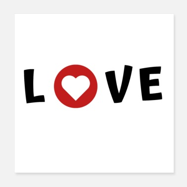 I Love Love I love saying - Poster 20x20 cm