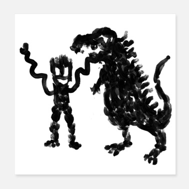 Jungs Dino-Junge - Poster 20x20 cm