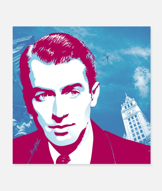 Hollywood Posters - James Stewart Chicago - Posters white