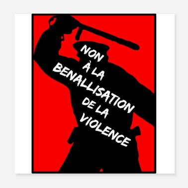 Policeman NO TO THE BENALLIZATION OF VIOLENCE - Poster