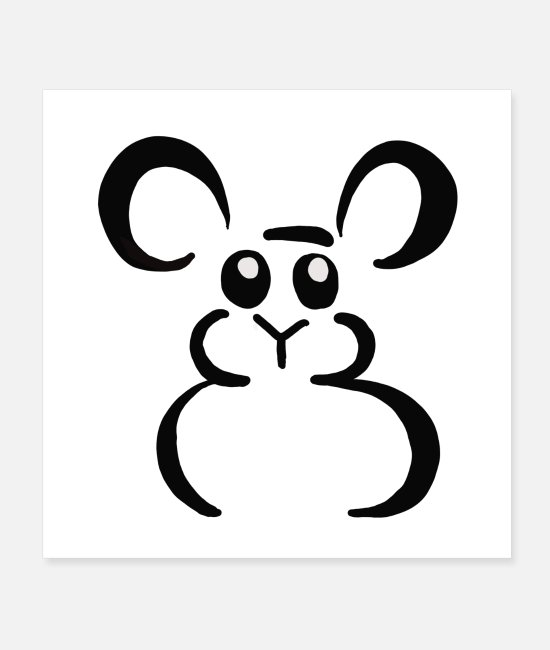 Sweet Fash Posters - Sweet mouse - Posters white