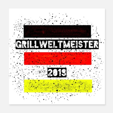 Grillsaison Grillweltmeister - Poster