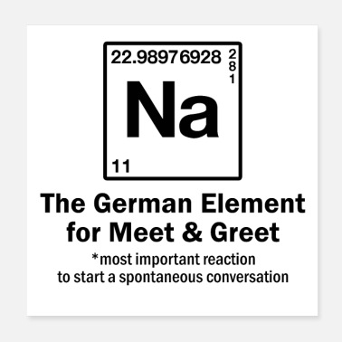 Student NA - Element for Meet & Greet - Periodic Table - Poster