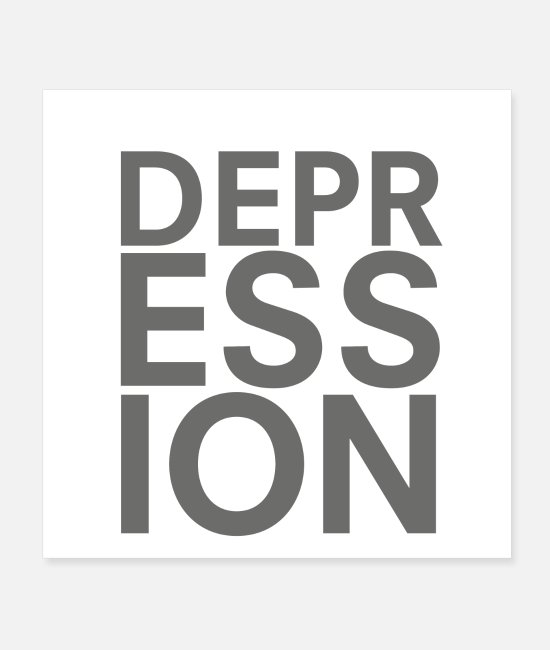 Therapy Posters - depression - Posters white