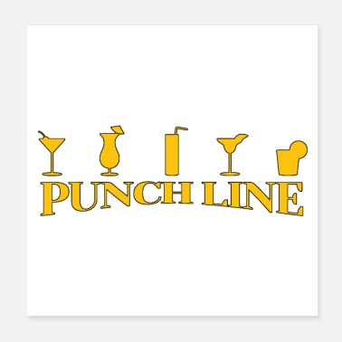 Zuckerrohr PUNCH LINE (COCKTAIL, RUM, ALKOHOL) - Wortspiele - Poster