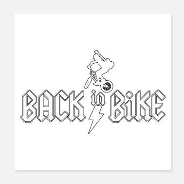 Misappropriation BACK IN BIKE - Word Games - Francois Ville - Poster