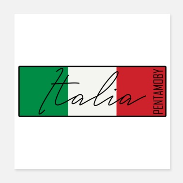 Italien Italien Italia Flagge Band Abzeichen (poster) - Poster