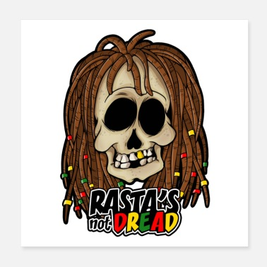 Dub RASTA IS NIET DREAD! REGGAE - Poster