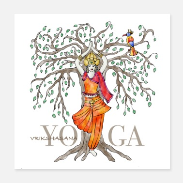 Yoga YOGA The tree Vrikshasana - Poster
