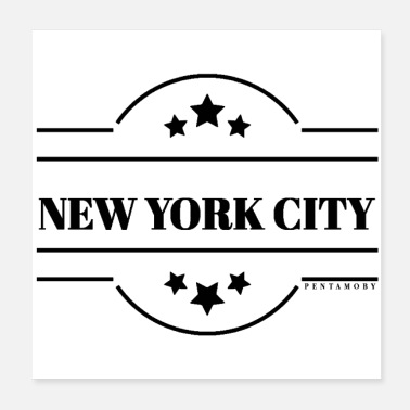 Cloche De La Liberté NEW YORK CITY EMBLEM SHIELD STARS ETATS-UNIS (affiche) - Poster