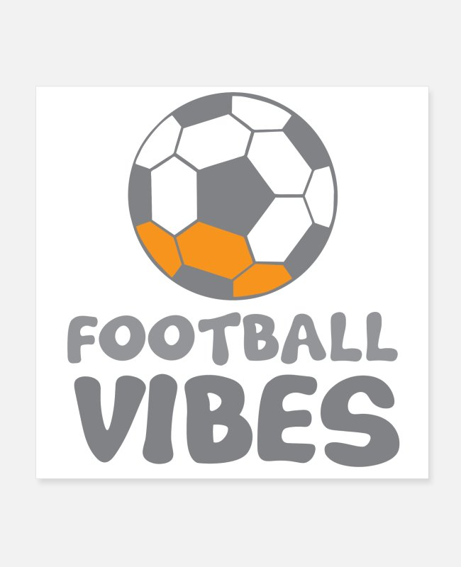 Goal Posters - Football vibes with soccer ball - Posters white