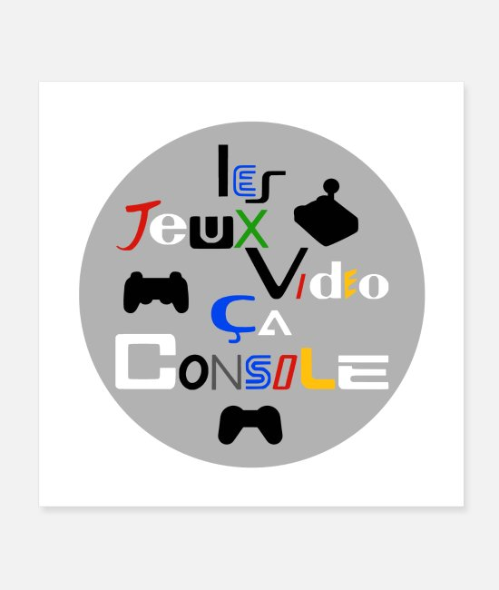 Game Posters - VIDEO GAMES, THIS CONSOLE! - Posters white