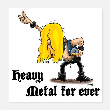 Heavy Heavy metal for ever poster - Poster