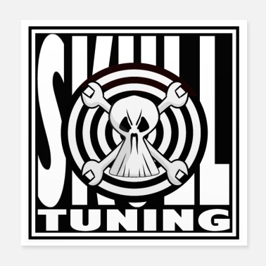 Tuning Auto's workshop tuning schedel auto motor - Poster